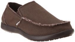 Crocs Men's Santa Cruz Slip-On Loafer,Espresso,13 M US