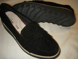 Clarks Sharon Dasher Suede Leather Knotted Detail Loafers Wo