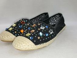 shoes womens rhinestone slip on loafers organic