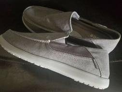 Crocs Size 12 Men's Gray Lux Loafers New
