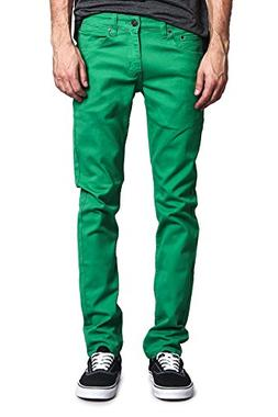 Victorious Men's Skinny Fit Color Stretch Jeans DL937 - KELL