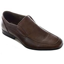 Men's Slip on Dress Shoes Moc Toe Leather Lined Formal Sleek