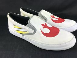 Sperry Boat Shoes Men 10 Star Wars White Canvas Red Lucas Ca