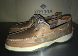 Sperry Top Sider Shoe Lanyard 2-Eye dark Tan Leather Boat Lo