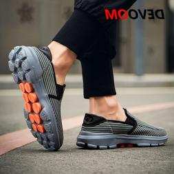 Summer Mens Slip on Shoes Casual Air Mesh Breathable Shoes C