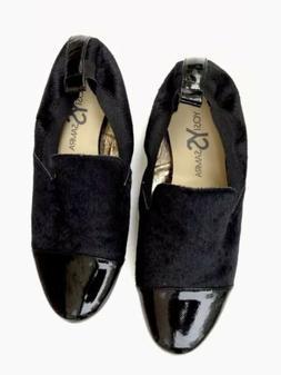 Sz 9 NEW  Yosi Samra Calf hair Leather Loafer Flats Cap Toe