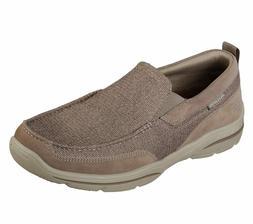 Skechers Taupe shoe Men Memory Foam SlipOn Soft Mesh Comfort