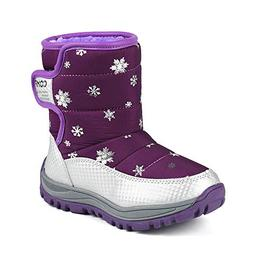 KONFA Teen Baby Girls Boys Winter Warm Padded Snow Boots,for