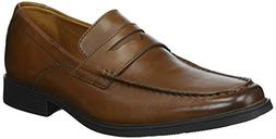 CLARKS Men's Tilden Way Penny Loafer, tan Leather, 10 Medium