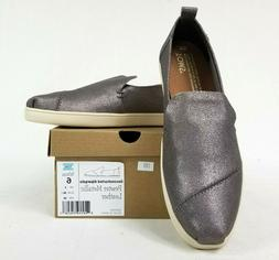 Toms Deconstructed Alpargata Leather Slip On Sneaker in Meta