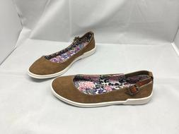 BLOWFISH MALIBU TRAVELLER Brown Slip On Loafer Canvas Shoe W