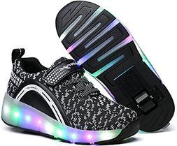 Unisex Boys Girls LED Lighting Single Wheel/Double Wheels Ro