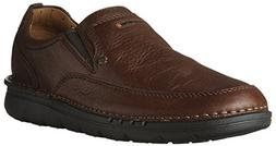 CLARKS Unnature Easy Mens Brown Leather Casual Dress Slip On