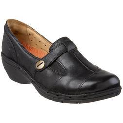 CLARKS Unstructured Women's Un.Jump Loafer,Black,9.5 N US