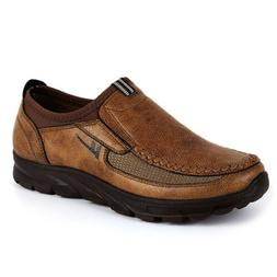 US Men Fashion Shoes Old Beijing Loafers Leather Comfort Wor