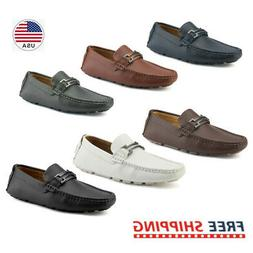 US New Mens Driving Casual Moccasins Leather Loafers Slip On