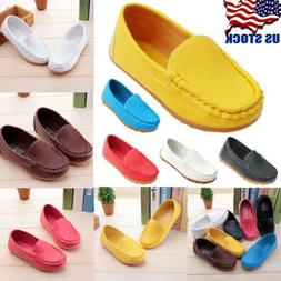 US Stock Boys Girls Kids Baby Oxford Flats Shoes Loafers Sne