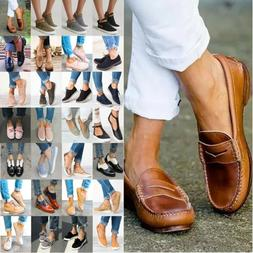 US Womens Sneakers Casual Flat Plimsolls Loafer Trainers Sli