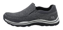 Skechers USA Men's Expected Gomel Slip-on Loafer, Gray, 10 M