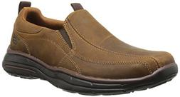 Skechers USA Men's Glides Docklands Slip-On Loafer, Dark Bro