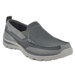 Skechers USA Men's Superior Milford Slip-On Loafer, Charcoal