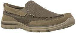 Skechers Men's Superior Milford Slip-On Loafer, Light Brown,