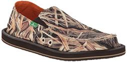 Sanuk Men's Vagabond Blades Slip-On Loafer, Mossy Oak, 12 M