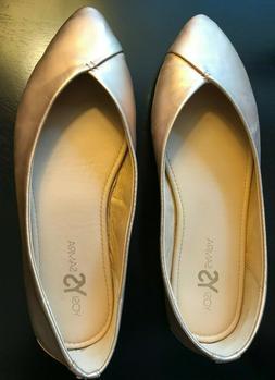 Yosi Samra Valerie Flats - Women's Size 9 - Rose Gold- Comfo