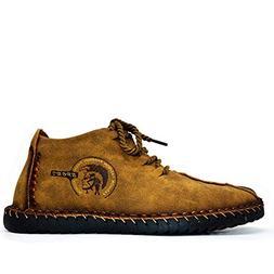 High end Shoes Men Full Vintage Sneakers Moccasins Non-Slip