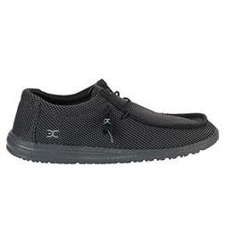 Hey Dude Men's Wally Sox Black Canvas Shoe
