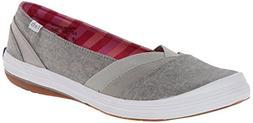 Keds Women's Whimsy Slip-On Flat, Grey, 9.5 M US