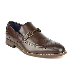 Bruno Marc Men's William_5 Brown Dress Loafers Slip On Dress