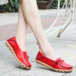 women driving loafer genuine leather flats slip on oxfords c
