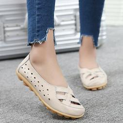 Women Genuine Leather Moccasins Loafers Driving Flats Casual
