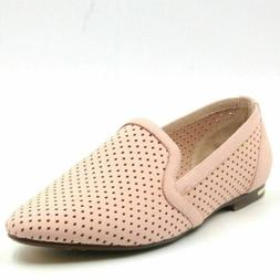 Yosi Samra Women Leather Perforated Loafers Size US 9M Powde