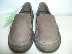 Women's  Crocs, Walu, Standard Canvas Loafer with Sude Accen