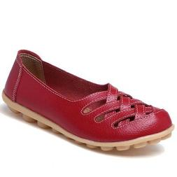CIOR Women's Genuine Leather Loafers Casual Moccasin Driving