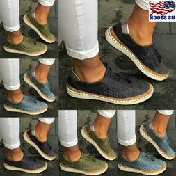 Women's Ladies Casual Hollow Out Round Toe Slip On Loafers F