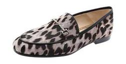 Sam Edelman Women's Loraine Horsebit Loafer Grey Leopard Lea
