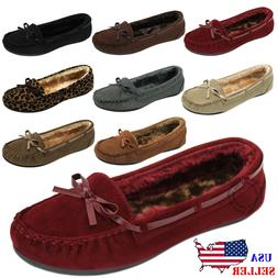 women s moccasins slip on indoor outdoor