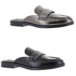 Steve Madden Women's Redeem Faux Leather Studded Slip On Loa