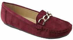 Bella Marie Women's Sueded Slip On Moccasin Loafer