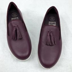 Fitflop Women's Tassel Superskate Leather Loafers Wedge Shoe