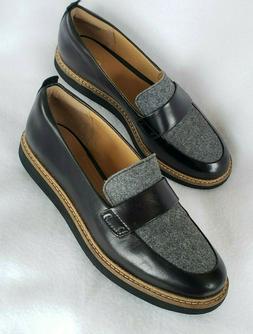 Clarks Womens 6.5 M Artisan Glick Avalee Loafers Slip On Bla