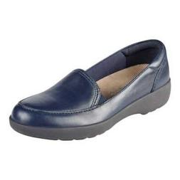 Easy Spirit Womens Karin Leather Closed Toe Loafers, Navy/Na