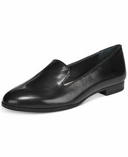 Alfani Womens Oceanaa Leather Closed Toe Loafers, Black Leat
