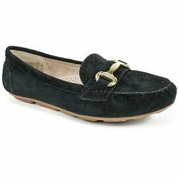 White Mountain Womens Scotch Leather Closed Toe Loafers, Bla