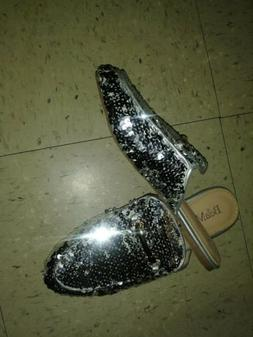 Bella Marie Womens Sequin Horsebit Slip On Oxford Loafer Mul
