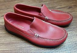 DEXTER Women's Size 6 M Loafers Flats Red Leather Shoes w/