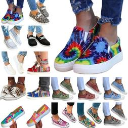 Womens Slip-on Casual Sneakers Sports Trainers Flat Loafers
